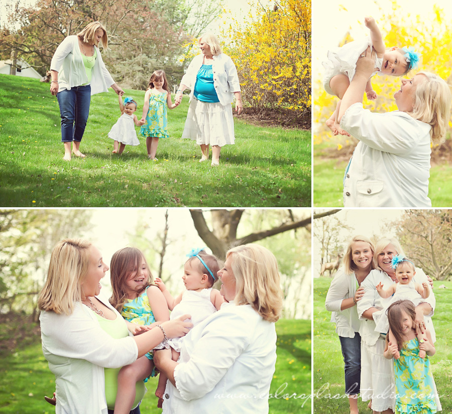 family, mother, daughter, grand daughter photography