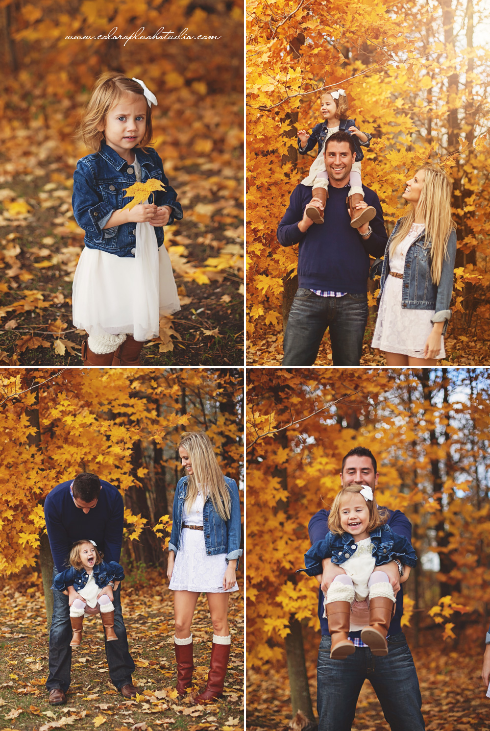 byers family fall photos kalamazoo family photographer color