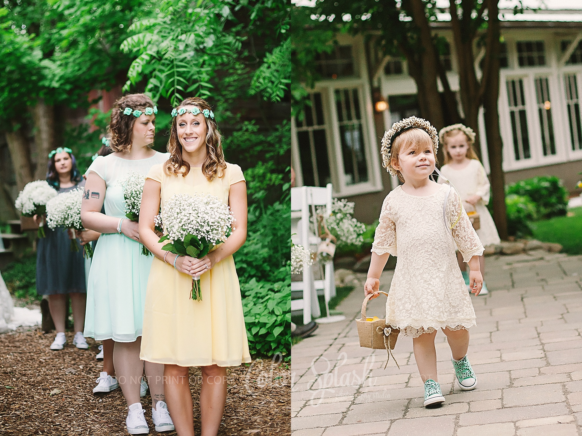 mint yellow gray wedding colors