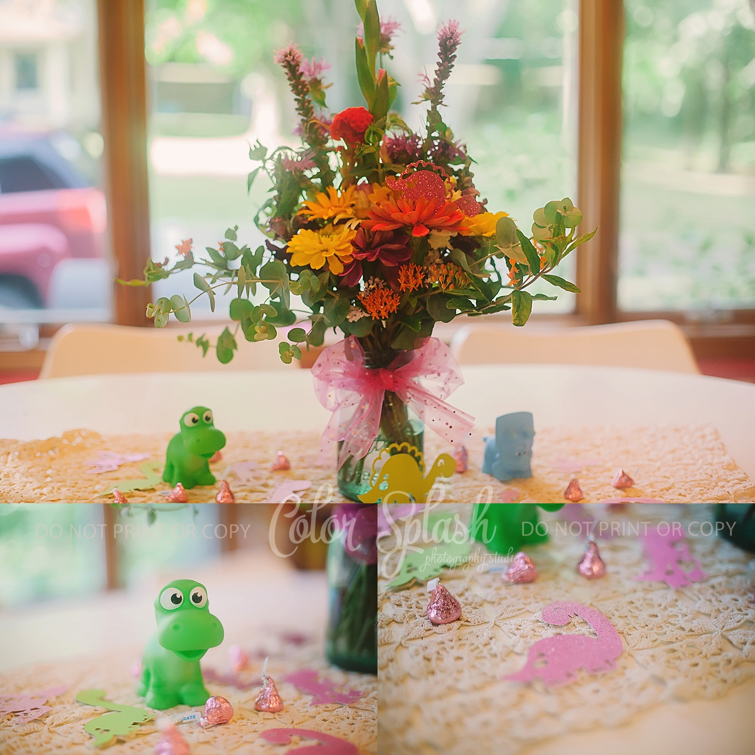 Izzy Turns 2  Girl Dinosaur Birthday – Color Splash