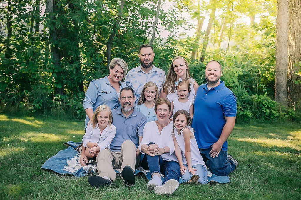 large family grouping photo